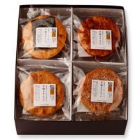 コシヒカリで作った大判・手焼き煎餅4種詰め合わせ